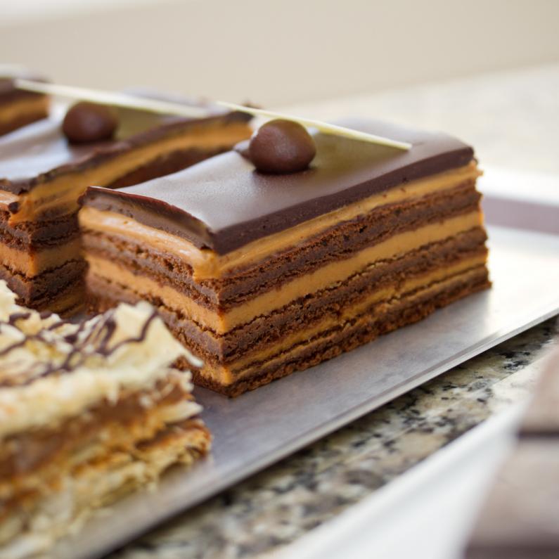 Chocolate-Dulce de Leche Flan